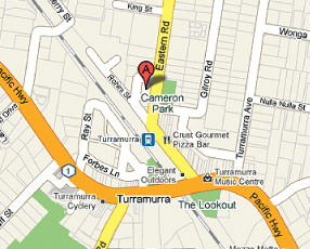Turramurra Manipulative Physiotherapy & Sports Injury Centre location map